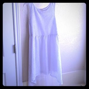 White lace Hi-Lo dress